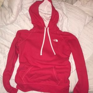 PINK THE NORTH FACE HOODIE